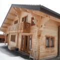 In het hart van de Alpen in het dorp van Bernex