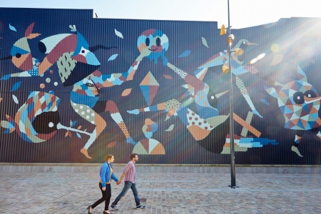 Fresco Hello Monsters Wallon in Charleroi