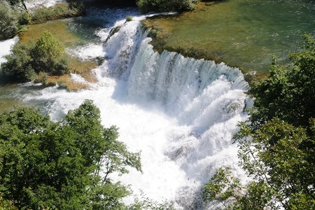Krka Nationaal Park spectaculaire waterval