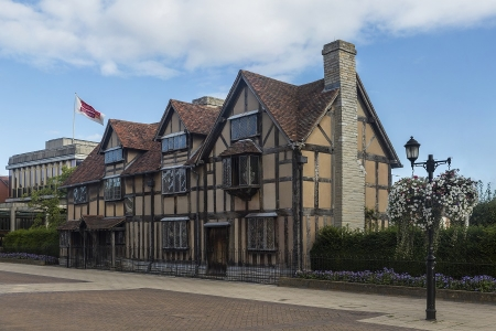 Bij William Shakespeare in Stratford-upon-Avon